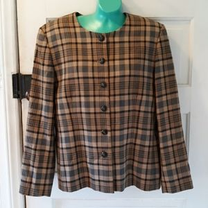 Vintage Pendleton plaid wool blazer Dark Academia